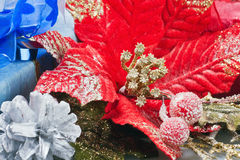 Christmas Flower decoration Stock Photo