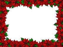 Christmas flower frame vector illustration