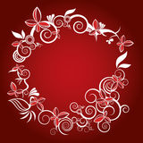 Christmas flower frame vector Stock Photography