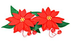 Christmas flower ornament Stock Photography