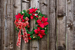 Christmas flower wreath stock photos