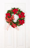 Christmas flower wreath Stock Image
