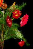 Christmas flowers bouquet Stock Images