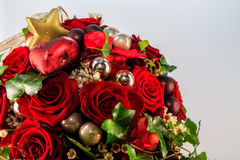Christmas Flowers. Christmas Style Bouquet of Flowers stock images