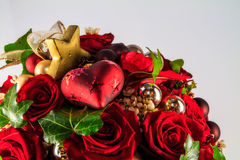 Christmas Flowers. Christmas Style Bouquet of Flowers royalty free stock images