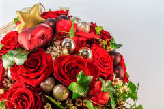 Christmas Flowers. Christmas Style Bouquet of Flowers stock photo