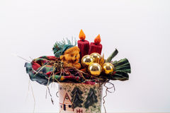 Christmas Flowers. Christmas Style Bouquet of Flowers royalty free stock photography