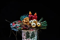 Christmas Flowers. Christmas Style Bouquet of Flowers royalty free stock photos
