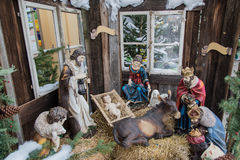 Christmas flu. Christmas with Jesus Christ, bethlehem birth Stock Image
