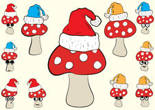 Christmas fly agarics Stock Image
