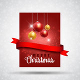 Christmas flyer background Royalty Free Stock Photography