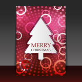 Christmas Flyer or Cover Design. Abstract Colorful Christmas Party Flyer, Greeting Card or Cover Design - illustration in freely scalable and editable vector Stock Images
