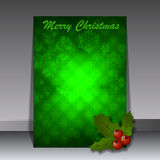 Christmas Flyer or Cover Design Stock Photo