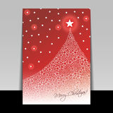 Christmas Flyer or Cover Design Royalty Free Stock Image