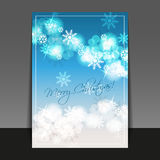 Christmas Flyer or Cover Design Template Stock Images