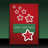 Christmas Flyer or Cover Design Template Royalty Free Stock Photography