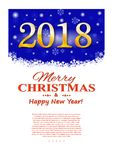 Christmas flyer with decorative elements on a dark background. Vector illustration Stock Photo