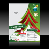 Christmas Flyer Design Royalty Free Stock Images