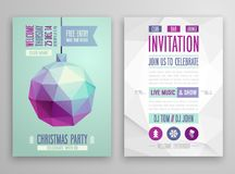 Christmas flyer - geometric stile. Stock Images