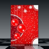 Christmas flyer Stock Photos