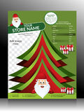 Christmas Flyer Template Stock Image