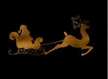 Free Christmas Foil Reindeer Silhouette Royalty Free Stock Photo - 82620105