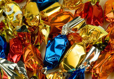 Christmas fondant candies. Typical Hungarian candies for the Christmas tree stock images