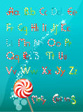 Christmas font color Royalty Free Stock Images