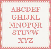 Christmas Font: knitted alphabet Royalty Free Stock Photo