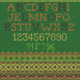 Christmas Font: Scandinavian style seamless knitted Stock Image