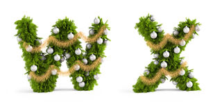 Christmas font set Stock Photos