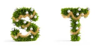 Christmas font set Royalty Free Stock Image