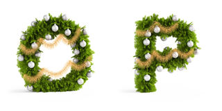 Christmas font set Royalty Free Stock Photo