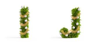 Christmas font set Royalty Free Stock Photos