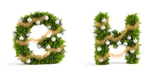 Christmas font set Stock Image