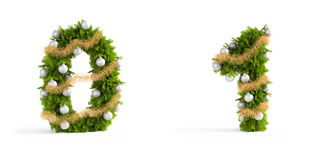 Christmas font set Royalty Free Stock Images
