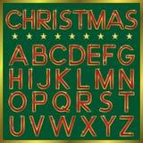 Christmas Font Stock Image