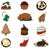 Christmas food. For occasions, dinner and party Stock Photo