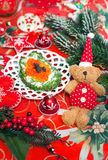 Christmas food appetizer with red caviar Royalty Free Stock Image