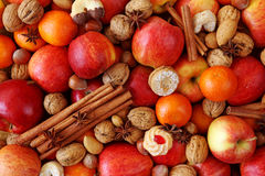 Christmas food background. Close up Royalty Free Stock Photography