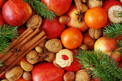 Christmas food background Royalty Free Stock Photos