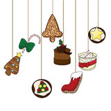 Christmas food background Stock Photo