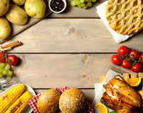 Christmas food with background space Stock Image