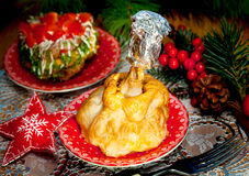 Christmas food - chikens meat Stock Photos