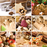 Christmas food collage Stock Photos