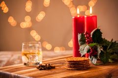 Christmas food and drink Stock Photography