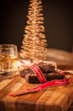 Christmas food and drink Royalty Free Stock Images