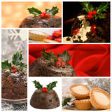 Christmas Food Montage Stock Photo