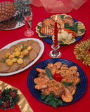 Christmas food setting Royalty Free Stock Photo