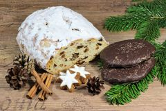 Christmas food specialties Royalty Free Stock Images